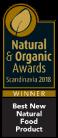 Best New Natural Food Product. Natural & Organic Awards Scandinavia 2018