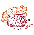 Freeze dried (lyophilized) Meat